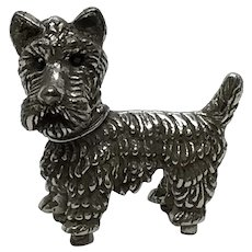 Miniature Sterling Repousse Terrier Dog