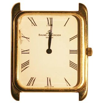 Vintage Baume Mercier hand watch in 14 k gold  rare classic model runs great .