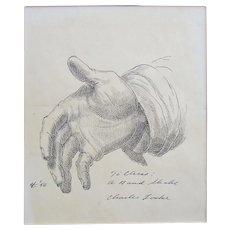 Original drawing by American Artist Charles Wheeler Locke