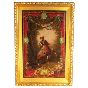 19th C. European School Painting Queen Victoria on the Horse  Oil on canvas