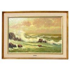 American School Coastal Painting Seascape by Francesco Maccarin