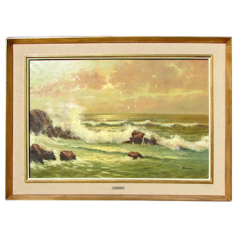 American School Coastal Painting Seascape by Francesco Maccarin
