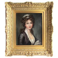 Continental School 18th c. Portrait of a Young Lady.
