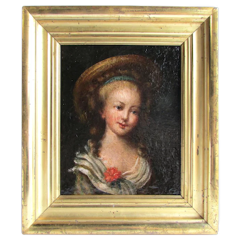Old Master School 17th c. Painting Portrait of a Young Lady
