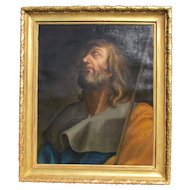 Old Master 18th Century Painting Saint John the Baptist.
