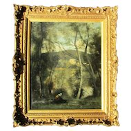 Copy from the Original Camille Corot Painting Ville-d'Avray The Metropolitan Museum of Art.