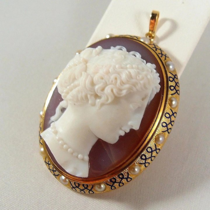 Sold fabulous and rare hand carved gemstone italian cameo framed in sold fabulous and rare hand carved gemstone italian cameo framed in 18k solid gold aloadofball Image collections