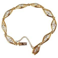 Rare antique bracelet Art Nouveau/Art Déco in 18K stamped solid gold and rose cut diamonds