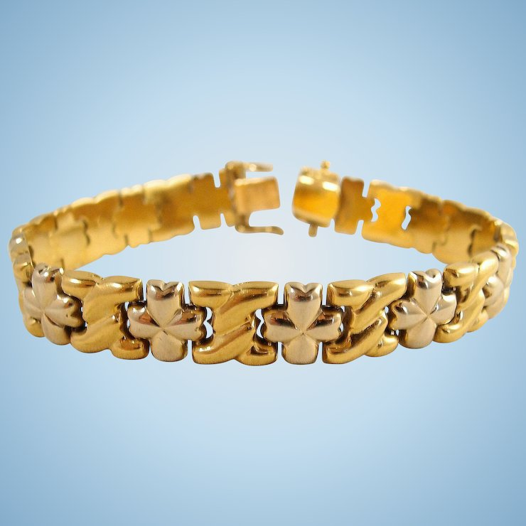 mm solid qg mesh yellow bracelet gold in