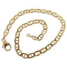 Vintage 18K solid gold bracelet Stamped French fine jewelry Desirable mariner links