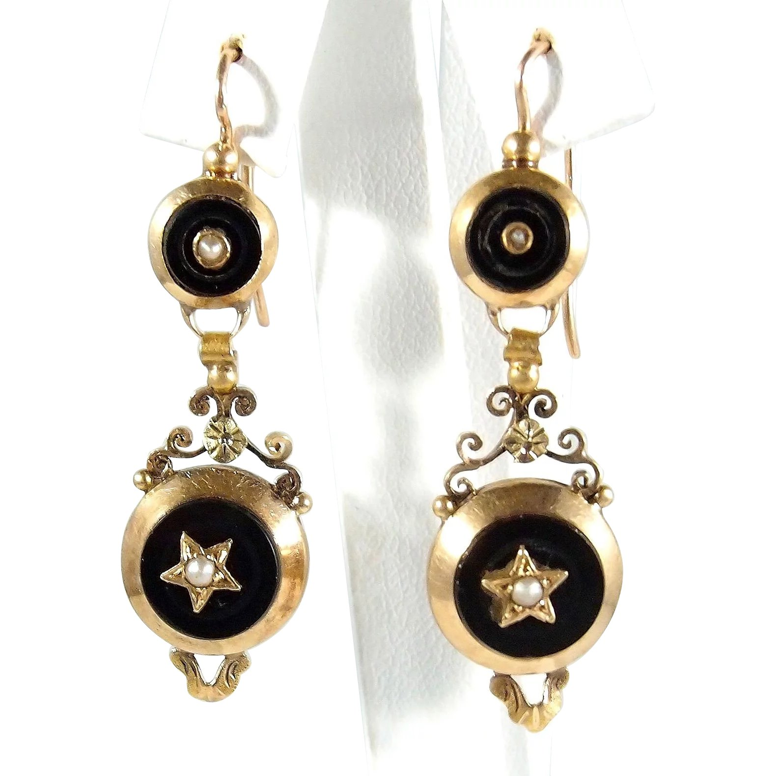 dangling color lace earrings dangle products graduated sophia jewelers sjrc tri gold