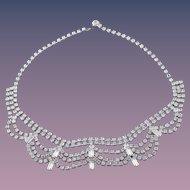 Melora Hardin's Glamorous Vintage Rhinestone Necklace in Fine Magazine Photo (November 2016)