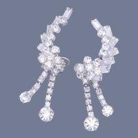Vintage Bridal Climber Dangle/Drop  Crystal Earrings