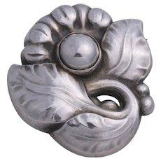 Vintage George Jensen Sterling Silver Flower Pin Design No. 71 Made in Denmark