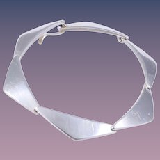Hans Hansen Museum/Book Piece Sterling Silver Bracelet Design No. 238 by Bent Gabrielsen Pedersen