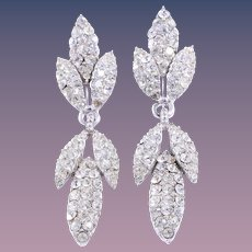 Exquisite CINER Simulated Diamond Dangle/Drop Clip-Style Earrings