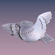 Georg Jensen Sterling Silver Flying Dove Pin, Design # 320
