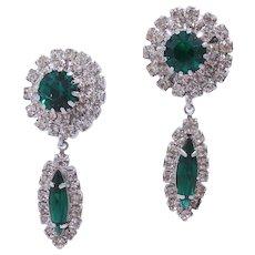 Glamorous Weiss Emerald Green Simulated Diamond Earrings