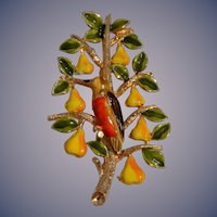 Cadoro Partridge in a Pear Tree Christmas Pin