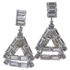 Weiss Collector's Vogue 1956 Ad Angle Dangle Earrings
