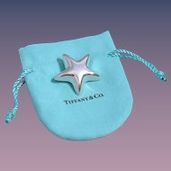 Tiffany & Co. Vintage Sterling Puffy Star Pin