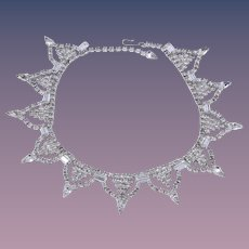 Statement Art Deco Designed Collar Necklace