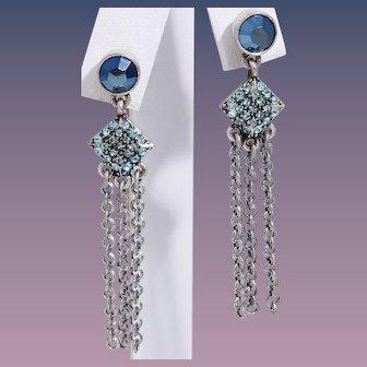 Vintage Givenchy Stud Dangle Tassel Earrings
