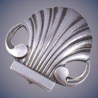 Georg Jensen Sterling Shell Brooch/Pin Number 246 Denmark