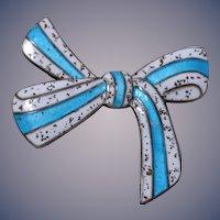 Margot de Taxco Sterling Silver Bow Tie Brooch, Design No. 5898