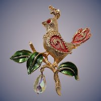 Mylu Book Piece Partridge in a Pear Tree Christmas Pin