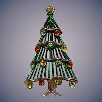 1960-70s Bookpiece Hedy Christmas Tree Pin