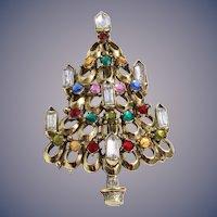 Rare Hollycraft Christmas Tree Pin, Bookpiece