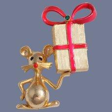 Book Piece Rare Mylu Mouse Christmas  Pin
