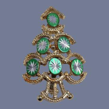Book Piece, Gold Crown Stylish Christmas Tree Pin