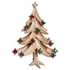 Book Piece, Crown Trifari Christmas Tree Pin