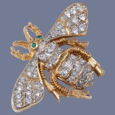 Early Kenneth Lane Rhinestone Bee Pin/Brooch