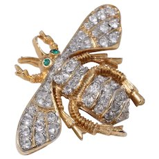 Early Kenneth Lane Rhinestone Bee Pin/Brooch