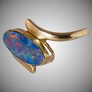14K Gold Opal Cabochon Size 6-1/2