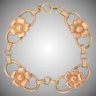 Harry Iskin     All Metal Bracelet   1/20 10K     7-1/2 Inches