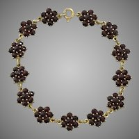 REDUCED! Beautiful Garnet Station Bracelet  7-3/8-Inches