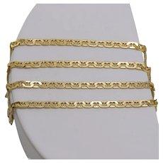 On Sale   Italian   14K Yellow Gold   19-1/2 Inch Mariner Chain