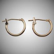14K Yellow Gold | Demi-Hoop Earrings