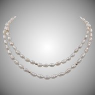 14K YG | 28-Inch | Freshwater Baroque Rice Pearl Necklace