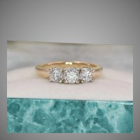 1.00 CTW 14K YG Diamond Ring  Size 6