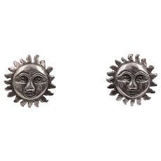 Sterling Silver | Sun Face Earrings - Red Tag Sale Item