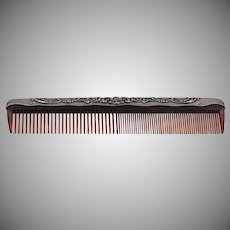 On Sale | Gorham Sterling Silver | 'Buttercup' | Faux Tortoise Comb