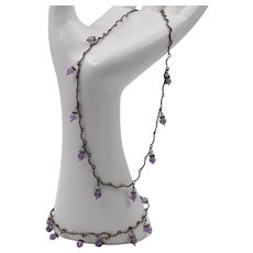 Sterling Silver | Matching Amethyst Bead Necklace & Bracelet Set