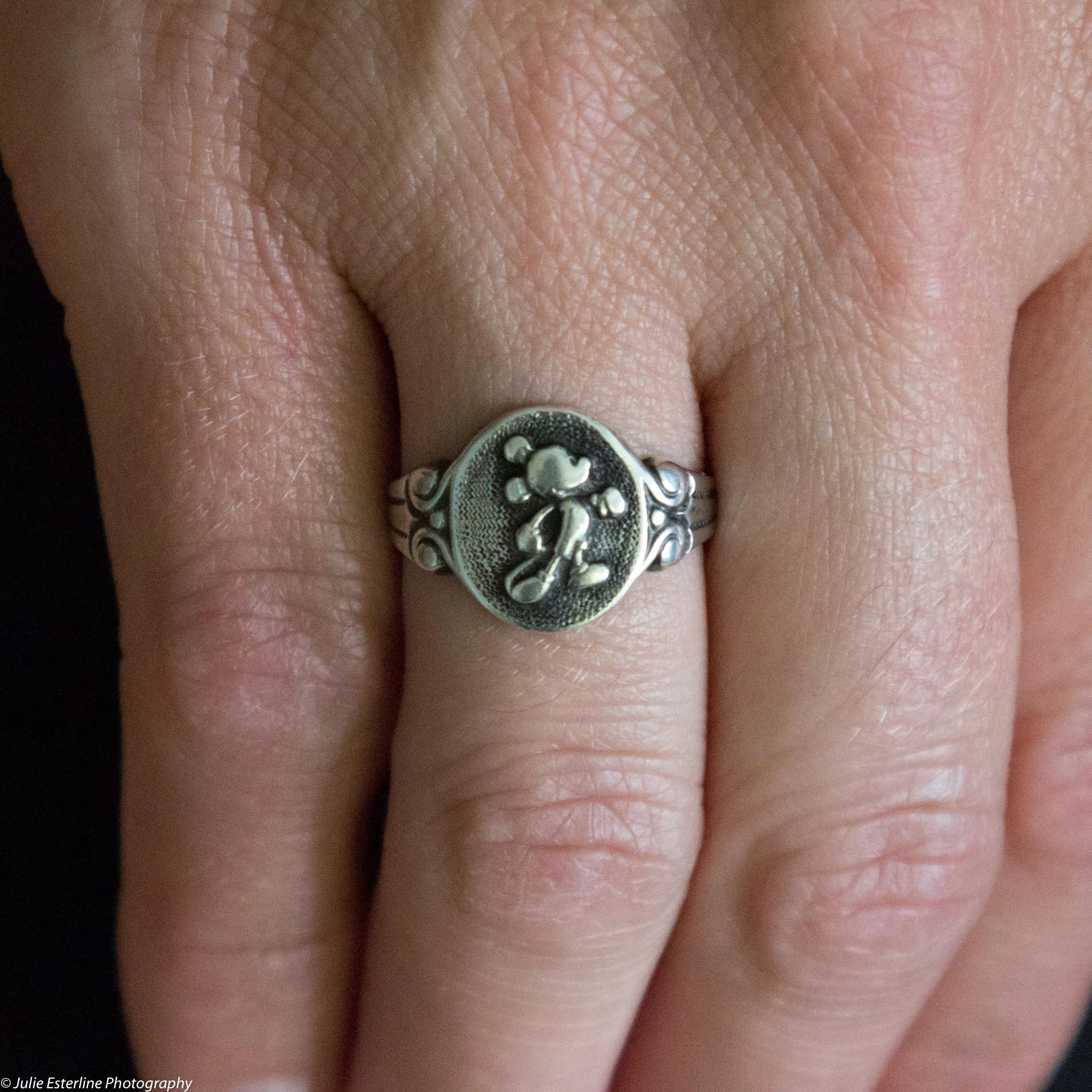 Vintage Sterling Silver Mickey Mouse Ring