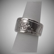 Sterling Silver | Floral Spoon-Style Ring