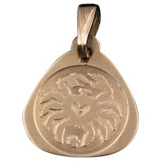 English | 9K/CT Gold | 'Crab' Zodiac Sign Cancer | Pendant/Charm